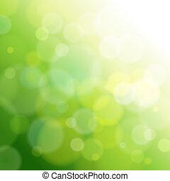 Grüner, abstrakter Licht Hintergrund.