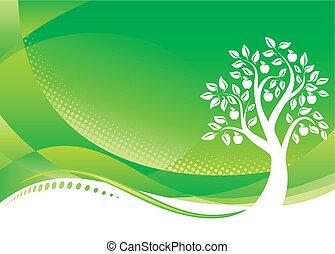 Grüner Baumstamm