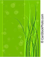Grüner Frühlings Hintergrund