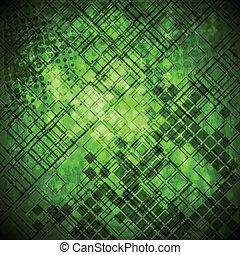 Grüner Grunge-Technologie Hintergrund abbrechen