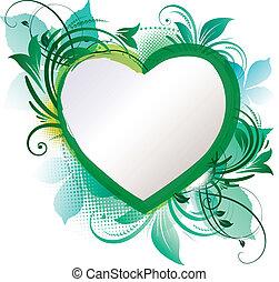 Grüner Herzleiden Hintergrund