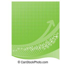 Grüner Hintergrund mit Halbton