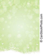 Grüner Hintergrund mit Schmetterlingspflanzen.