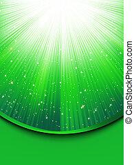 Grüner Hintergrund mit Sternen deaktivieren. EPS 8