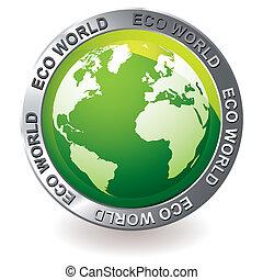 Grüner icon Öko-Erdball