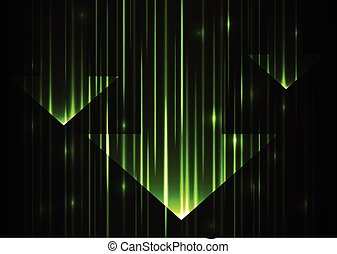 Grüner Pfeil abstrakter Technologie Hintergrund.