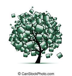 Grüner Steinbaum für dein Design