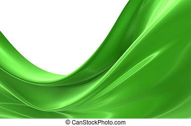 Grüner Stoff absetzen
