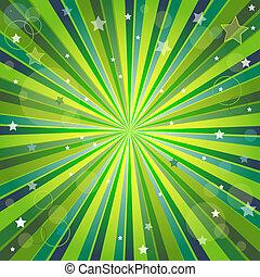 Grüner und gelber Hintergrund mit Strahlen deaktivieren