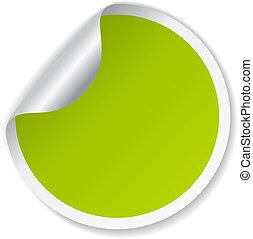 Grüner Vektoraufkleber