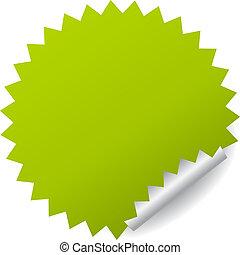 Grüner Vektoraufkleber.