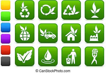 Grünere Umwelt-Ikonensammlung