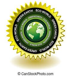 Grünes Öko-Ikone