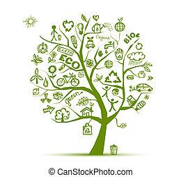 Grünes Ökologiebaumkonzept für Ihr Design.