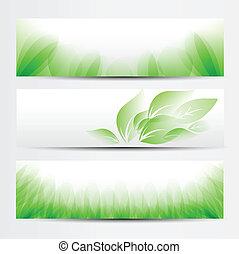 Grünes Banner aufgestellt