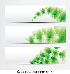 Grünes Banner bereit