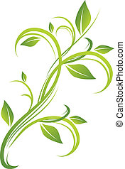 Grünes Blumendesign.