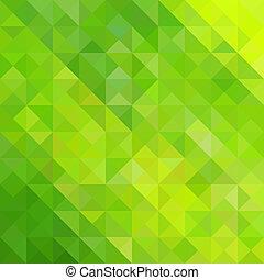 Grünes Dreieck.