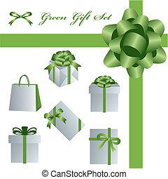 Grünes Geschenkset