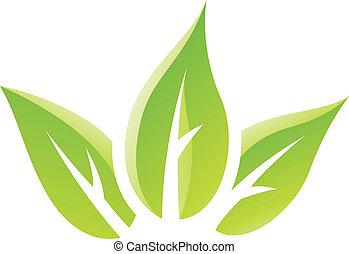 Grünes GIossy hinterlässt Icon