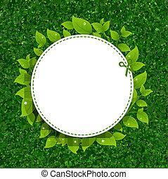 Grünes Gras mit Blättern