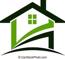 Grünes Haus stürzt ein