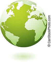 Grünes icon Earth Gel