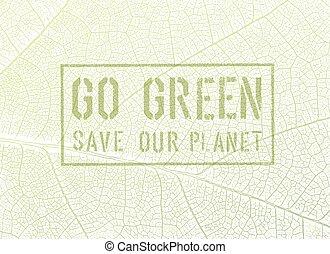 grünes Konzept.