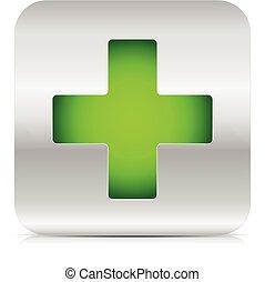Grünes Kreuz.
