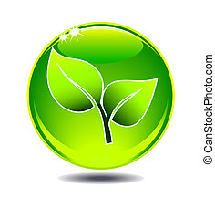 Grünes Laub-Logo