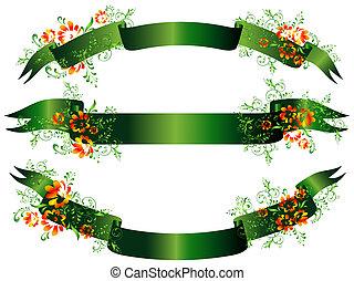 Grünes Leuchter aufgestellt