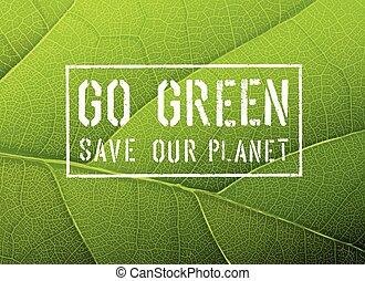 grünes Poster, Vektor.