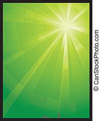 Grünes vertikales asymmetrisches Licht