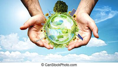 Grünes Weltkonzept