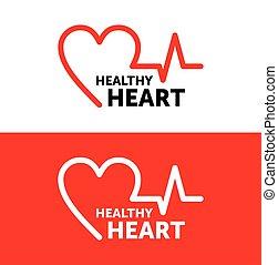 grafik, herz, vektor, symbol, gesunde, heart., logo, design., illustration., icon.
