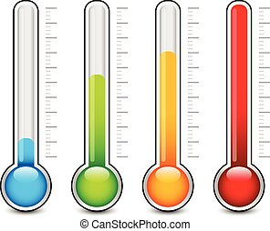 grafik, thermometer