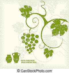 Grape-Reben-Hintergrund.