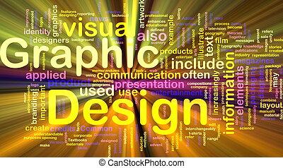 Graphisches Design Hintergrundkonzept leuchtend