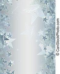 Grauer Hintergrund mit leuchtenden silbernen Sternen