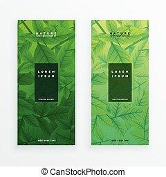 Green eco lässt Banner bereit.