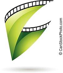 Green Glossy Film Rollen Icon.