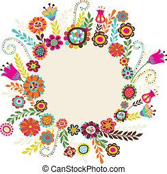 Greeting-Karte mit Blumen