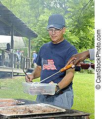 grill, juli 4, picknick