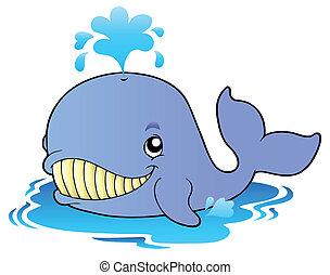 Großer Cartoon-Wal