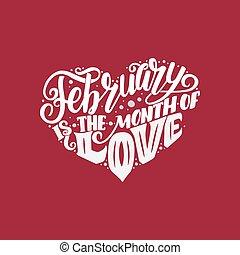Großes Herz mit Schreiben über Liebe, Satz für den Valentinstag