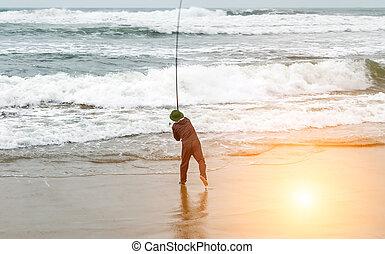 Großes Spiel Angeln Salzwasser