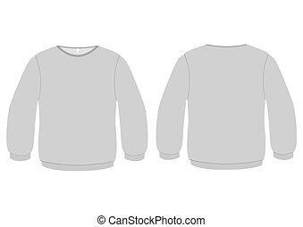 Grundlegende Pullover-Vektorgrafik.