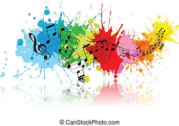 grunge, abstrakt, musik