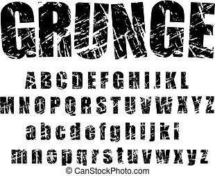 Grunge Alphabet: 1