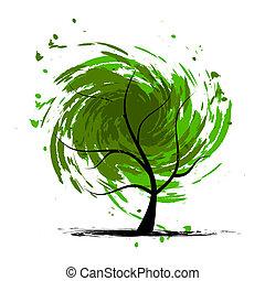 Grunge Baum für dein Design